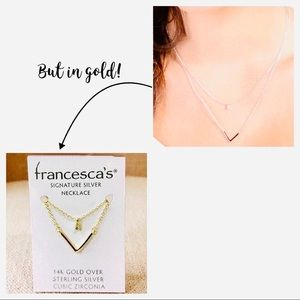 🎄3/$30 NWT Francesca's Gold Layered Necklace